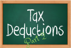 Businesses Expenses and Assets that Can Be Deduced from Taxation—Part 2