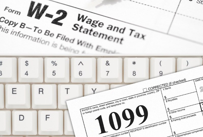 Tax Difference 1099 vs W2 Employees